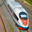 High-speed passenger train — 图库照片