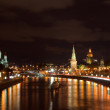 Royalty-Free Stock Photo: Moscow Kremlin  and   Moskva River in night