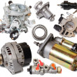 Set of auto spare parts — Stock Photo