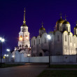 Assumption cathedral  at Vladimir in  night — Stockfoto