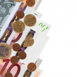 Stock Photo: Border from euro banknotes