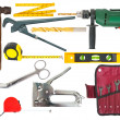 Stock Photo: Set of working tools