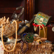 Stock Photo: Treasure chests with jewellery