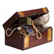 Wooden treasure chest — Stockfoto #8143002