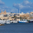 Msida and Lazaretto Creek — Stock Photo