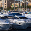 Stock Photo: Yachts lying at harbour