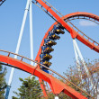 Roller coaster at Port Aventura park, Spain — Stock Photo