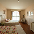 Stock Photo: Bedroom with two double bed