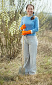 Full length shot of female gardener — Stock Photo