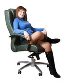 Businesswoman sitting on chair — Stock Photo