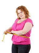 Girovita misura donna grassa — Foto Stock