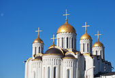 Domes of Assumption cathedral at Vladimir — Zdjęcie stockowe
