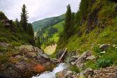 Waterfall in rock — Stock Photo