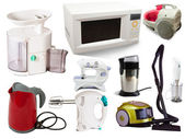Set of household appliances — Stock Photo