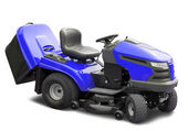 Blue lawnmower — Stock Photo