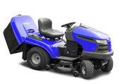 Blue lawnmower — Stock Photo