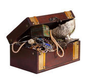 Wooden treasure chest — Foto Stock