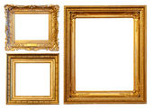 3 gold frames — Stock Photo