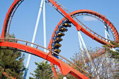 Roller coaster at Port Aventura park, Spain — Stock Photo