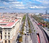 Vista aérea de barcelona — Foto de Stock