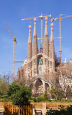 View of Barcelona, Spain. Sagrada Familia — Stock Photo