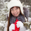 Winter portrait of woman — Stock Photo #8998958