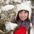Winter portrait of girl — Foto Stock