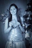 Vintage Christmas portrait — Stock Photo