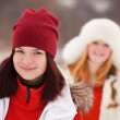 Stock Photo: Girls workouts at winter park