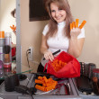 Happy hairdresser - Stockfoto