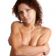 Portrait of topless girl - Stockfoto