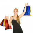Happy girl holding shopping bags — Stock Photo #9004206