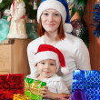Happy family celebrating Christmas — Stock Photo #9006929