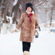 Mature woman in winter — Stock Photo #9007028
