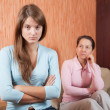Teen daughter and mother having quarrel - Photo