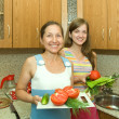 Women with vegetables — Stock Photo