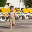 Royalty-Free Stock Photo: Toddler at resort hotel area