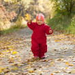 Stock Photo: Happy toddler in autumn