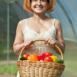 Royalty-Free Stock Photo: Happy mature woman with  harvest