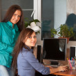 Stock Photo: Two women in office