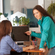 Two women in office — Stock Photo #9007834