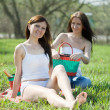 Girlfriends in the park — Stock Photo #9007863