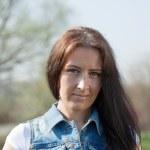 中年深色头发的女人 — 图库照片 #9008000