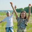 Happy teenager boy and girl together — Stock Photo #9008056