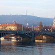 Manosuv bridge over Vltava. Prague — Stockfoto #9008404