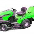 Stock Photo: Lawn mower over white
