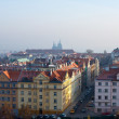 Historical residential district in Prague - Stock Photo