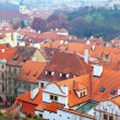 Top view of Prague - Stock Photo