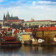 Foto Stock: View of Prague Castle, Czechia
