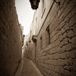 Retro photo of narrow town street — Stock Photo #9008581